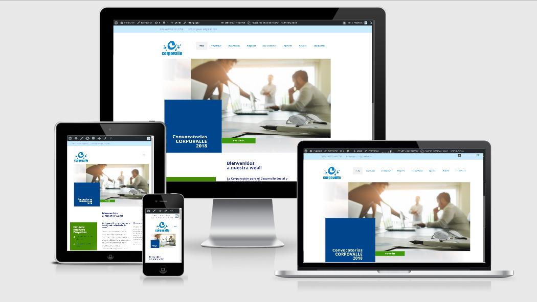 Diseño Web para corporaciones y fundaciones en Cali